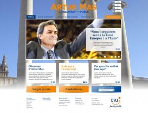 Web Artur Mas